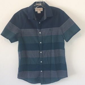 Original Penguin Striped Button Down Short Sleeve